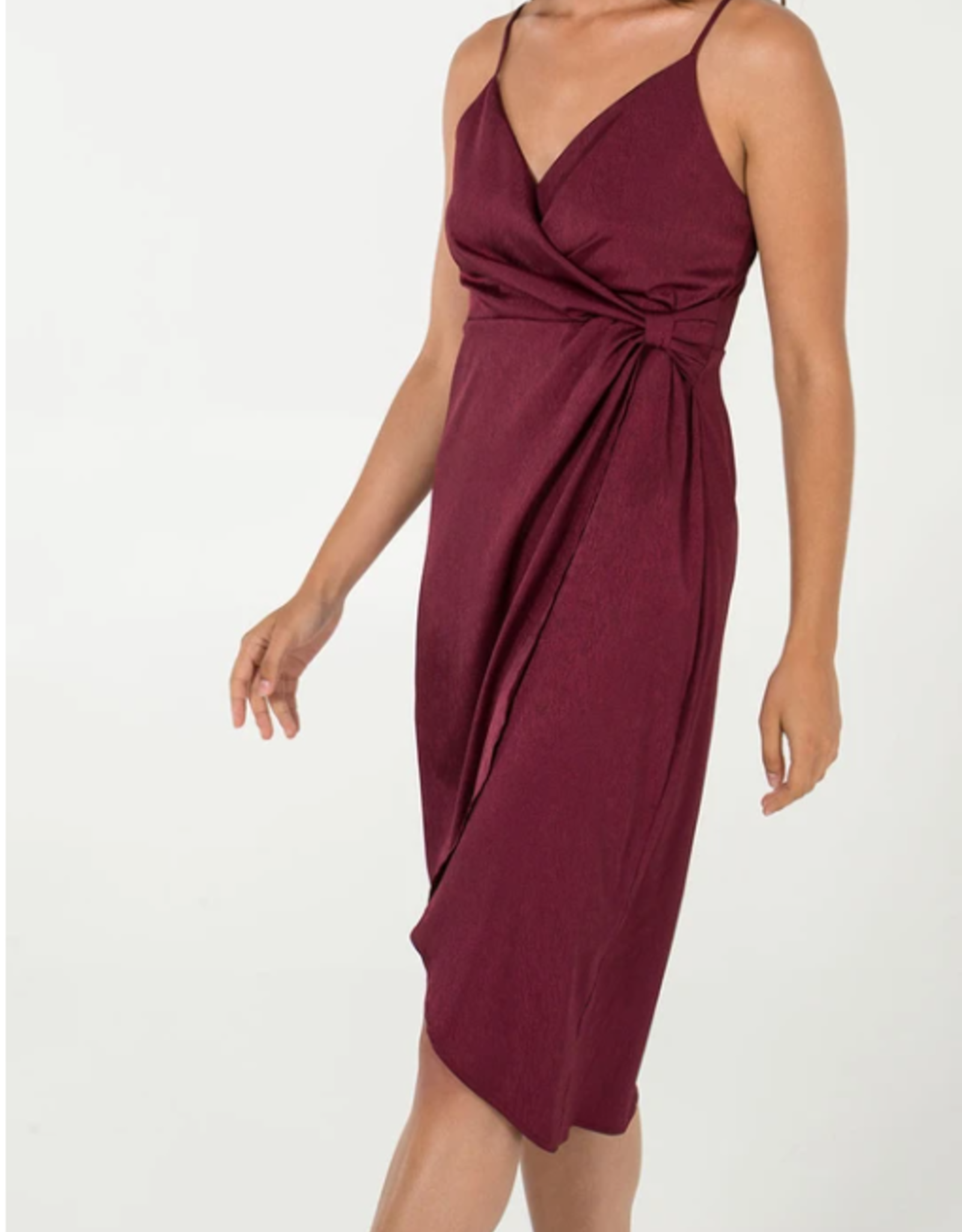 Nova London cami strap wrap dress
