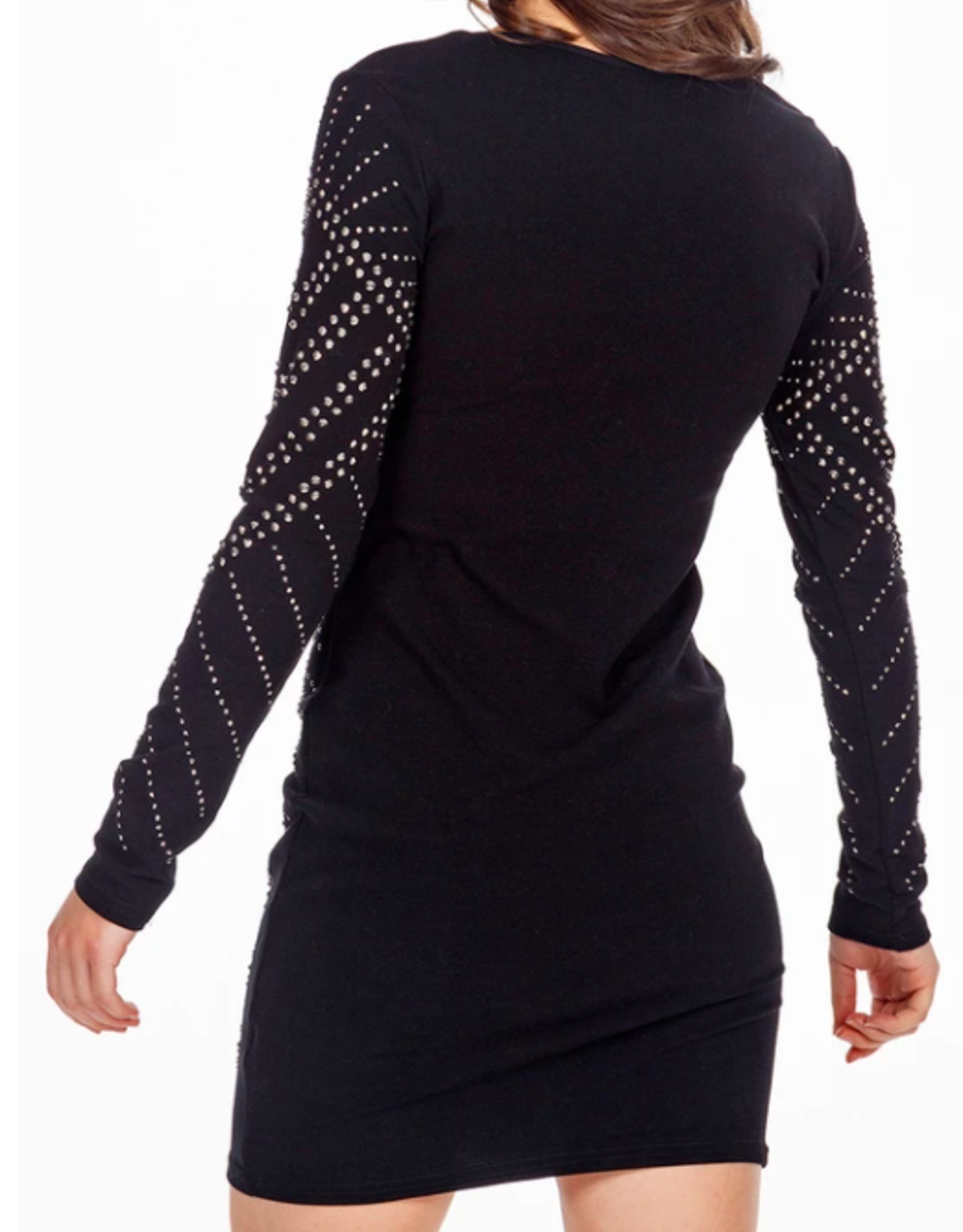 Nova London embellished long sleeve dress