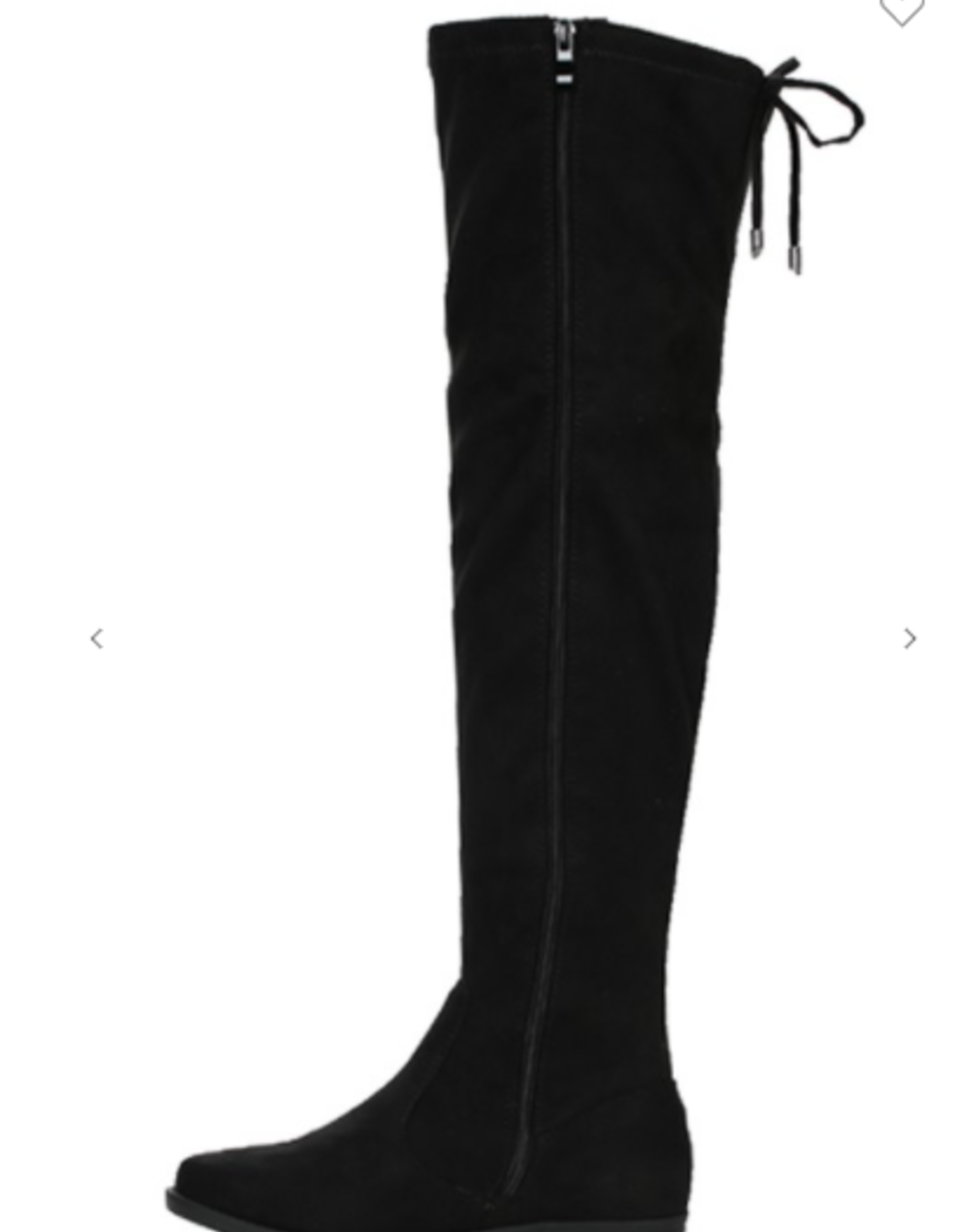 Drawstring tie over the knee boot