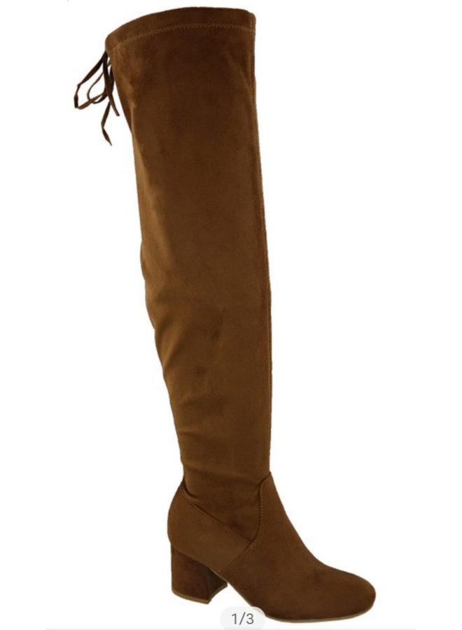 drawstring tie tall boot