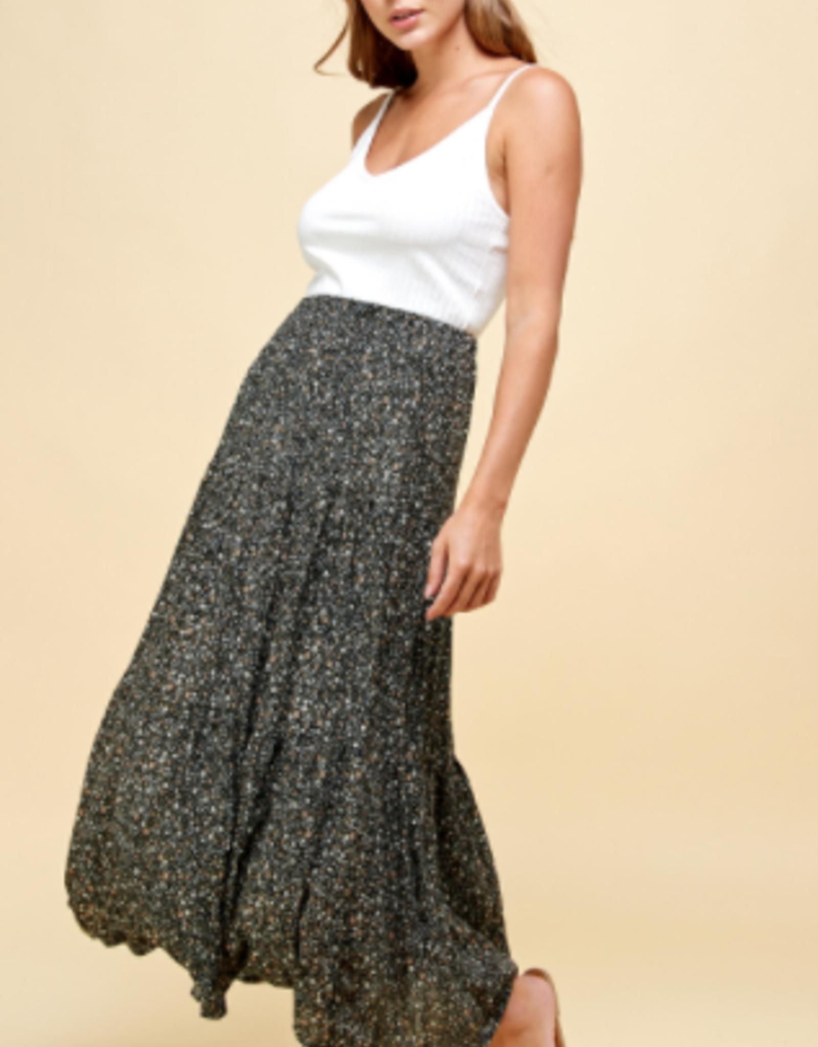 Les Amis flowy maxi skirt