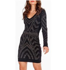 Nova London embellished long sleeve dress