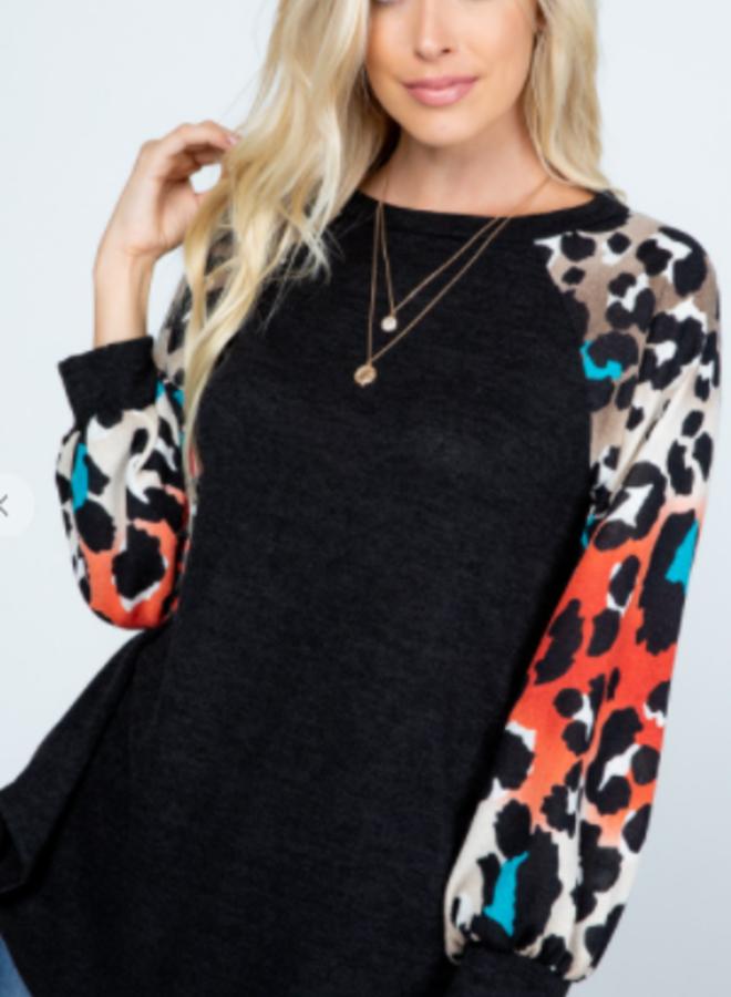 mirr sweater animal print