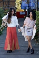 Gigio two-tone maxi skirt