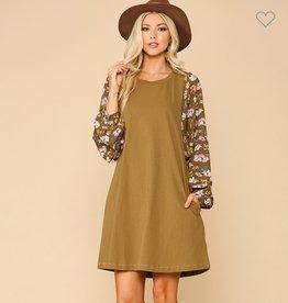 Gigio printed dolman sleeve dress