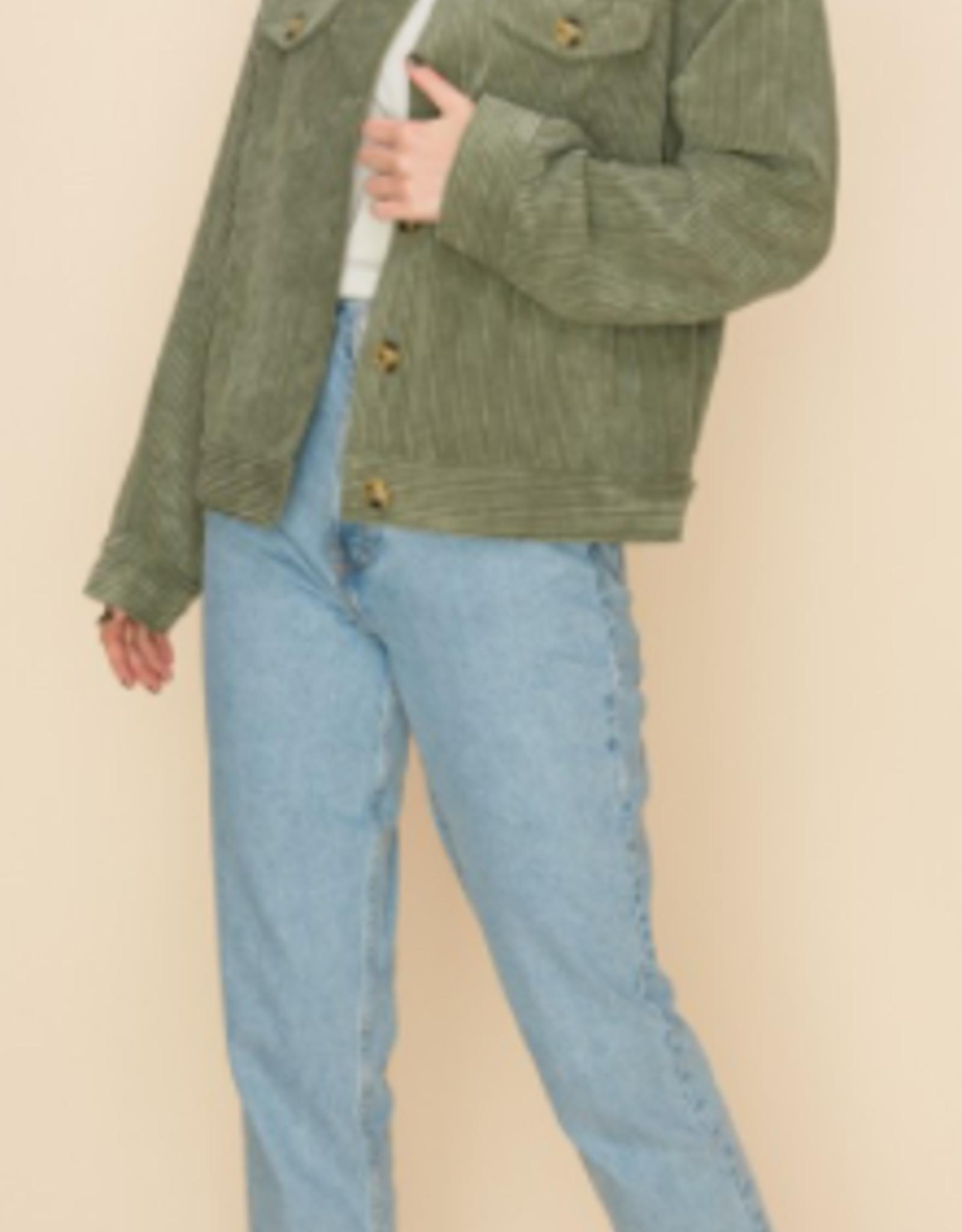 HyFve corduroy button down jacket