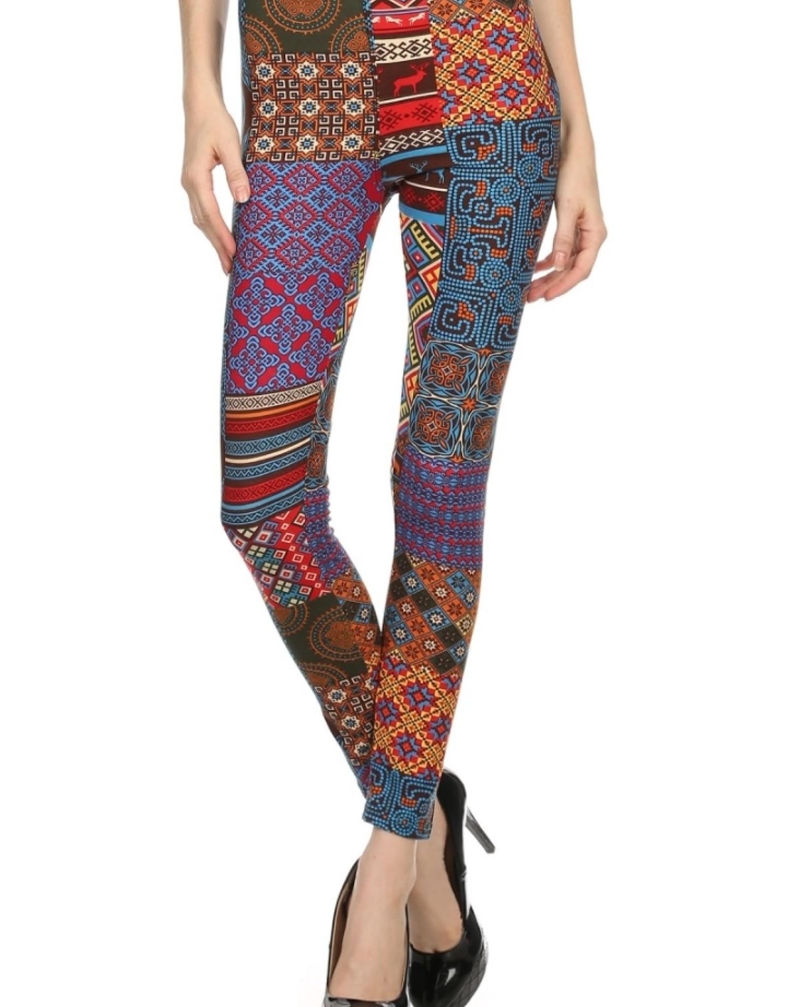 LA 12th Street leggings ethnic  art deco print