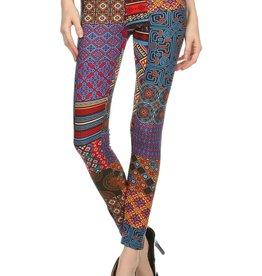 LA 12th Street leggings ethnic deco print