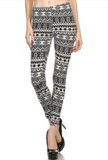 LA 12th Street leggings black and white geometric