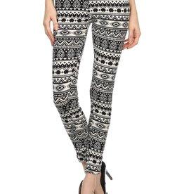 LA 12th Street leggings black and white geometric