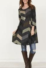 EG Fashion chevron print tunic dress