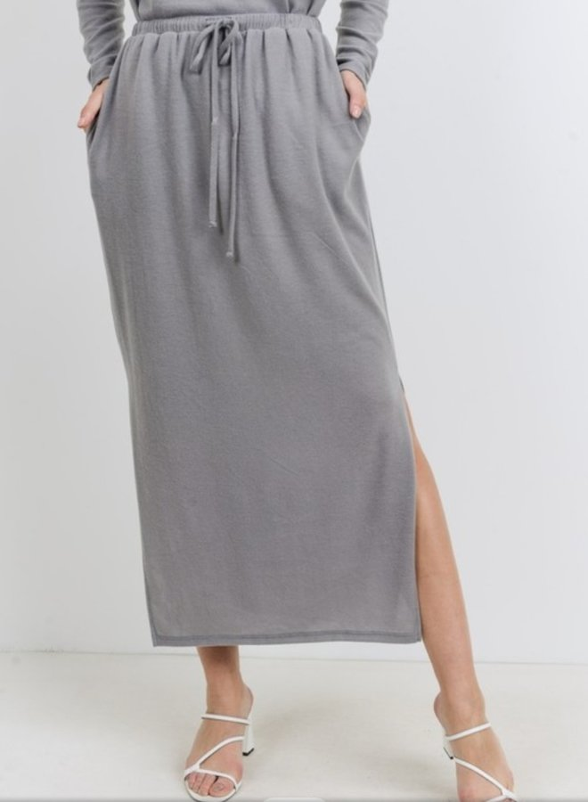 brushed knit skirt