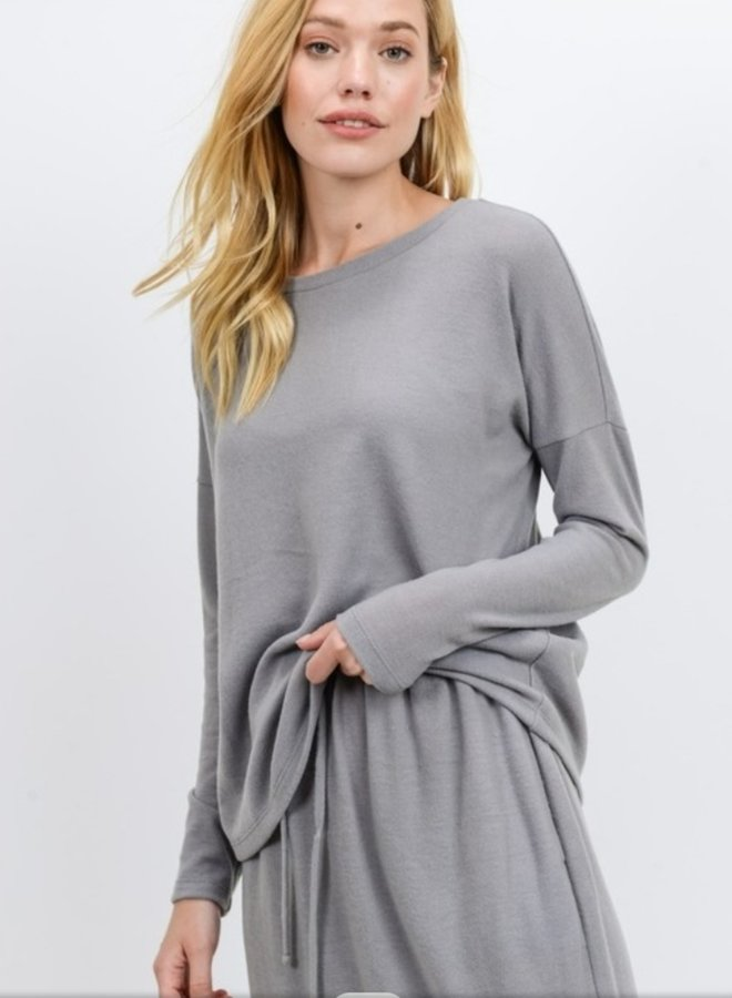 brushed knit top