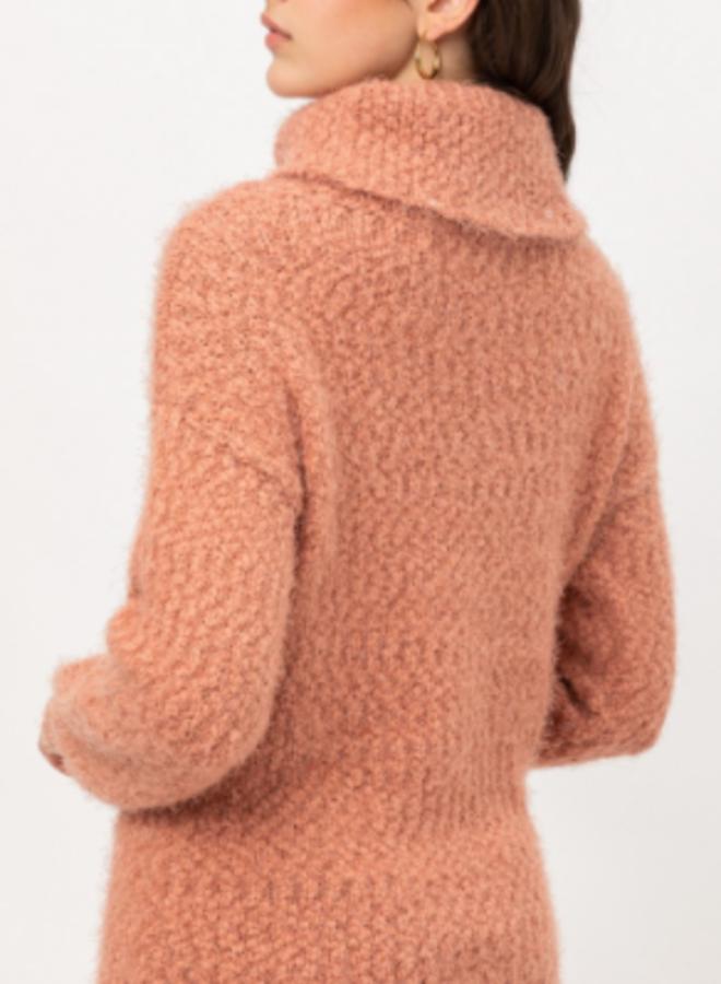 fuzzy turtle neck sweater
