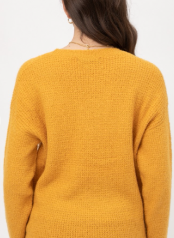 tweed basic sweater