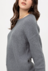 Love Tree tweed basic sweater