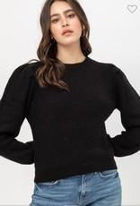 Love Tree puff sleeve yarn sweater
