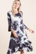 tie dye black dress