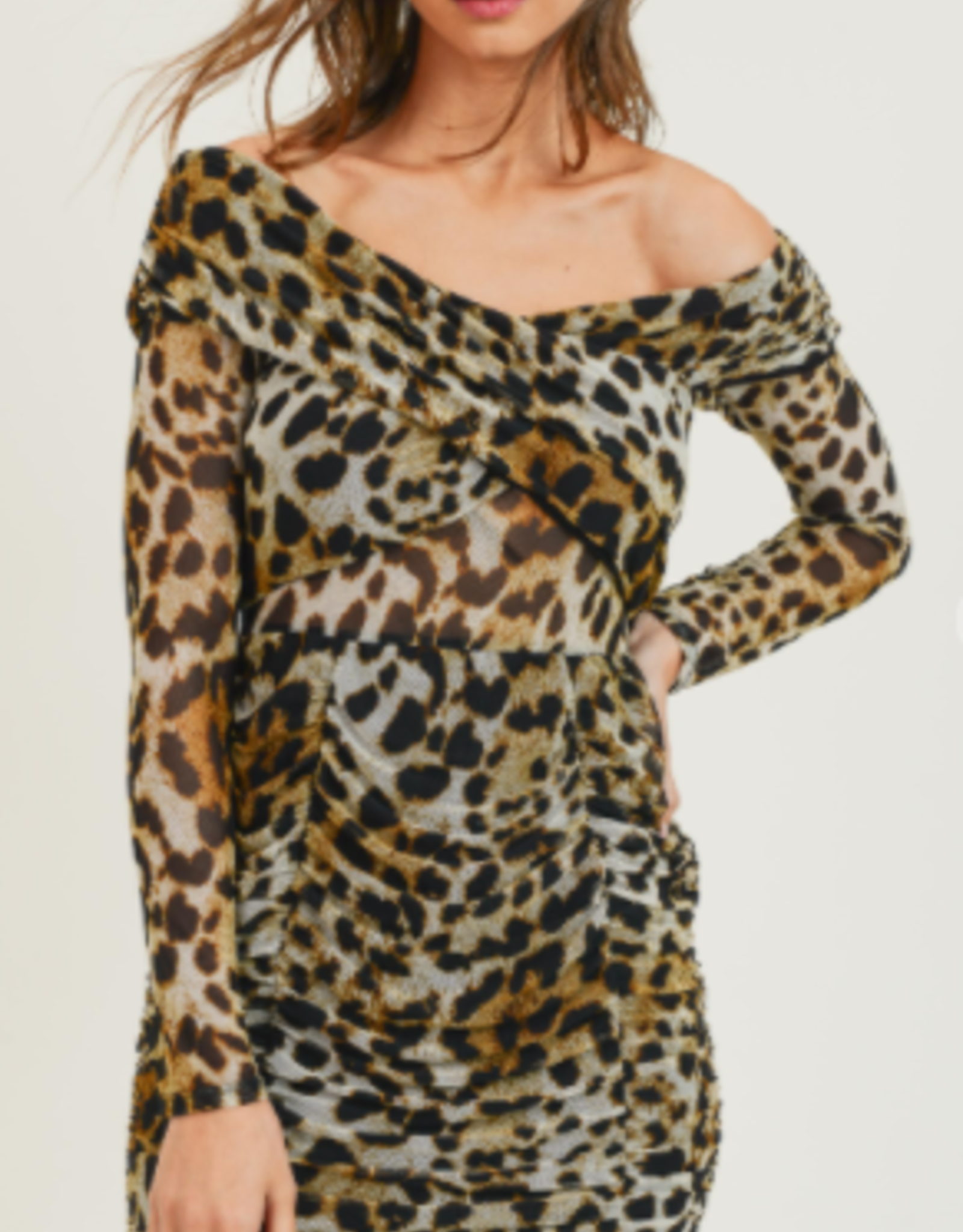mini leopard dress