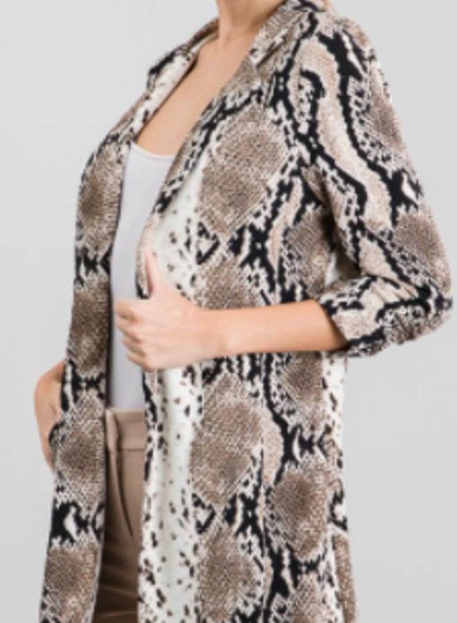 grey snake print jacket
