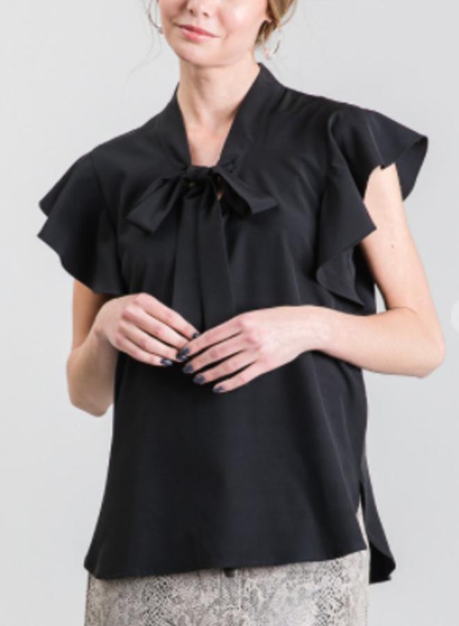 flounce blouse top