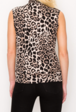 Perception printed smocked neck top