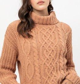 Love Tree turtleneck sweater