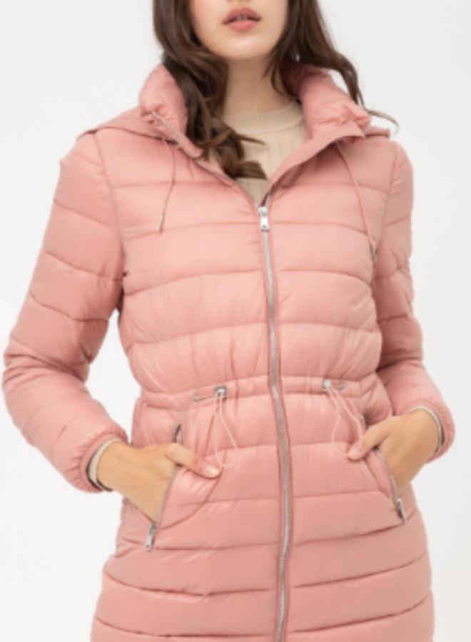 puff jacket with hood