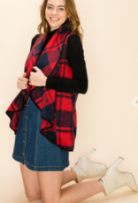 HyFve buffalo plaid shawl collar vest