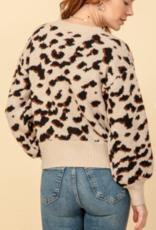 HyFve leopard button down front cardigan
