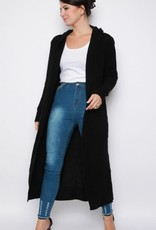 Missi Clothing maxi hooded knitted cardigan