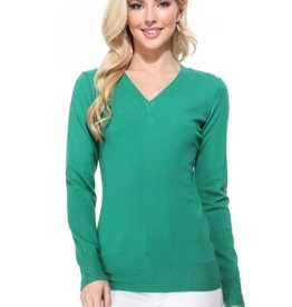 Mak long sleeve v neck sweater