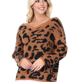 Mak animal print sweater