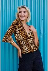 Jacaranda leopard print blouse