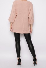 Missi Clothing high-low knitted sweater