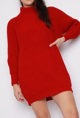 Missi Clothing balloon sleeve mini sweater dress