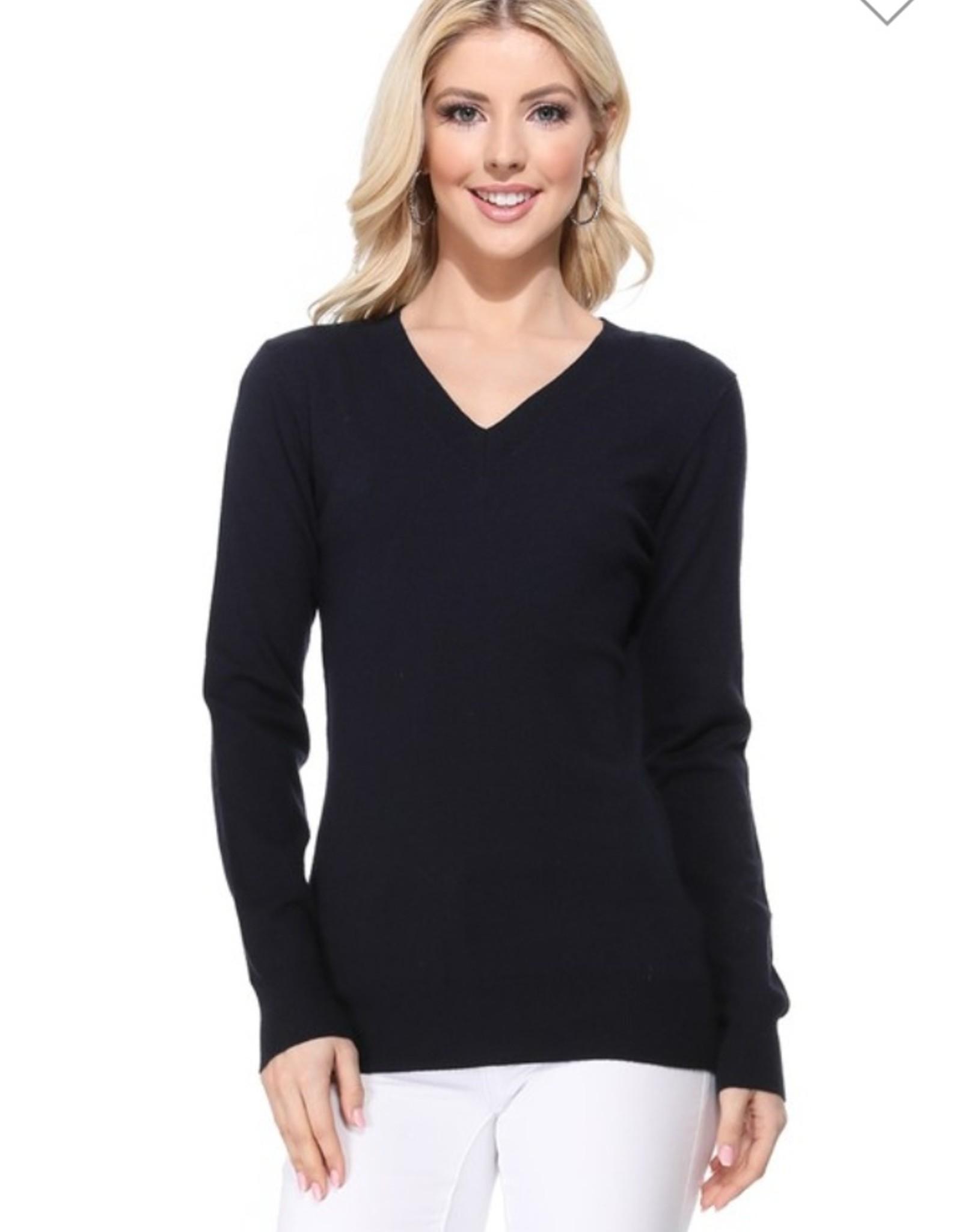 Mak long sleeve v neck sweater