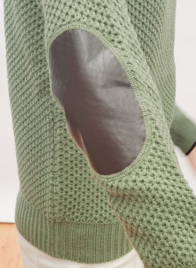 sweater with elbow patch