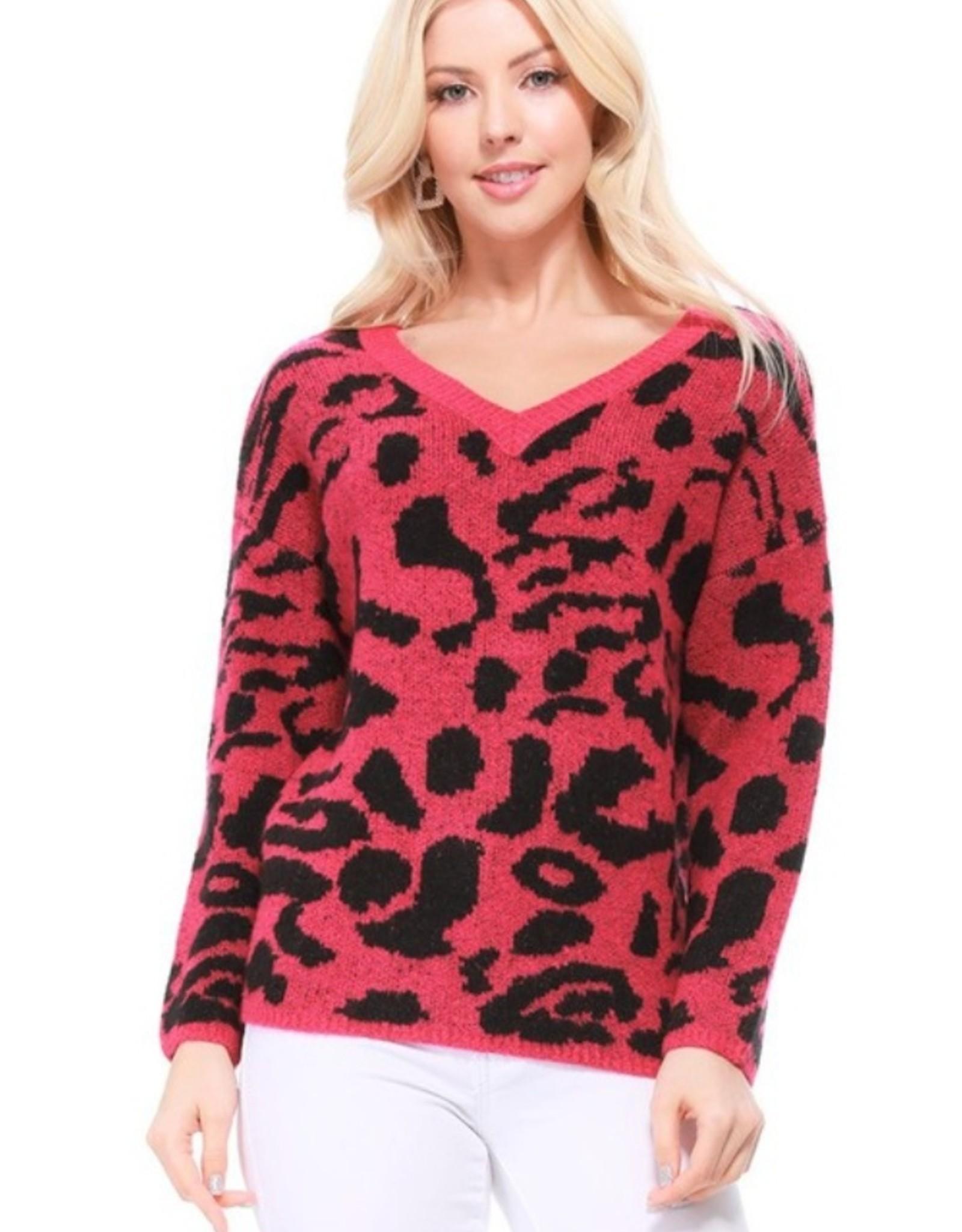 Mak animal print sweater