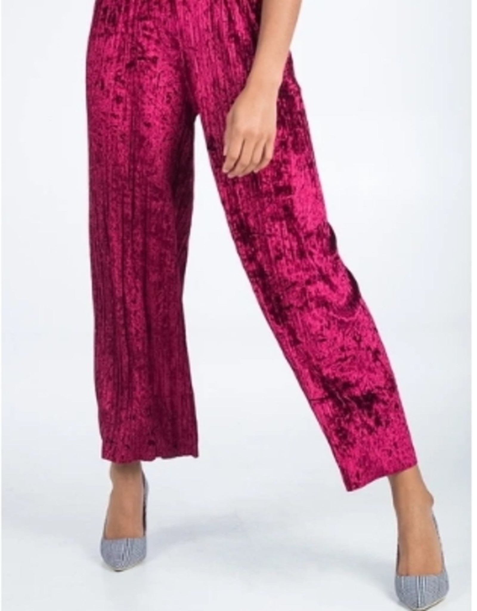 pleated trousers  with elastic waist