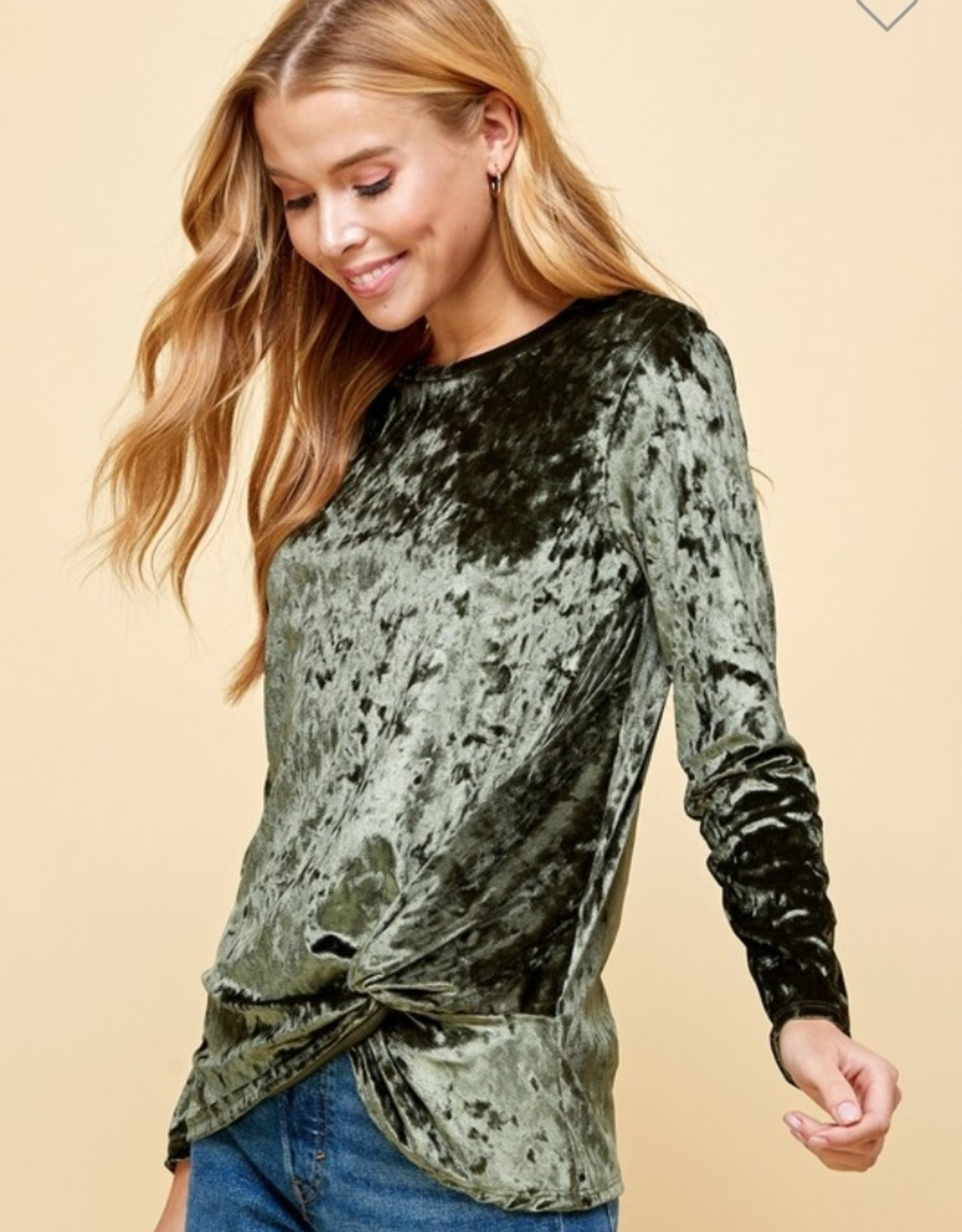 Les Amis velvet top with  crisscross in front