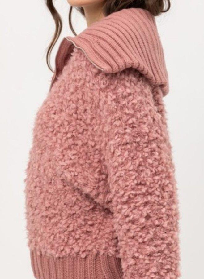 teddy yarn sweater