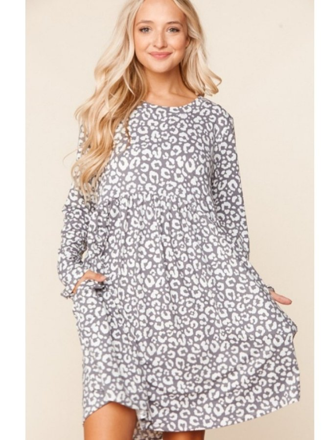 leopard print dress