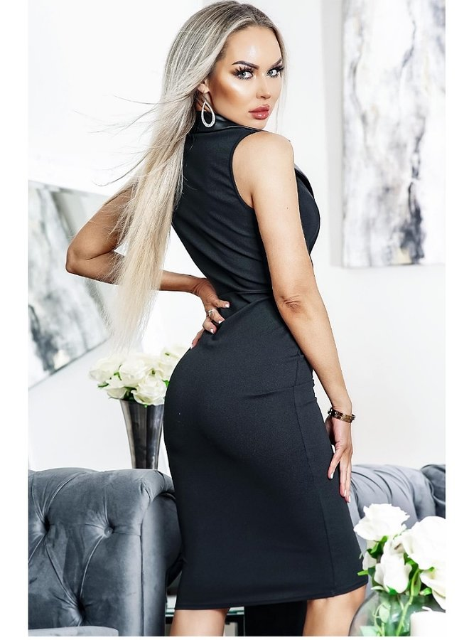 PU  leatherette bodycon dress