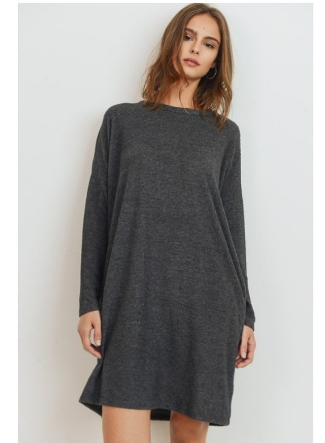 brushed knit dress