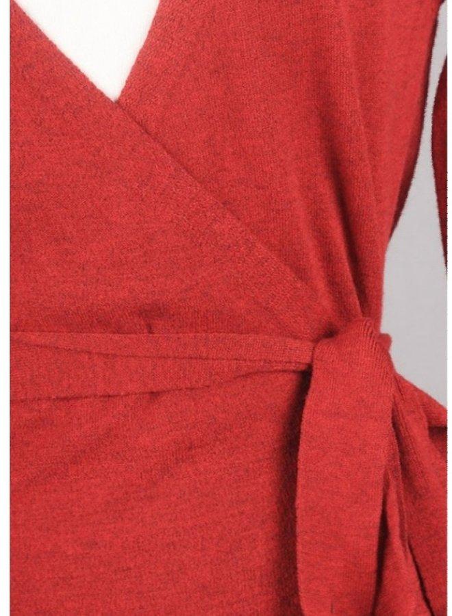 sweater dress with tie