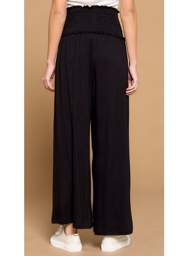 wide leg French terry pants