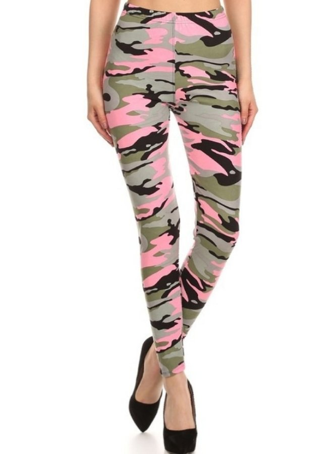 multi color camo leggings