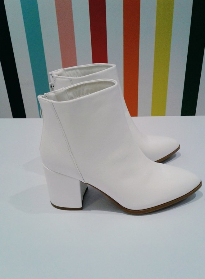 casual block heel booties