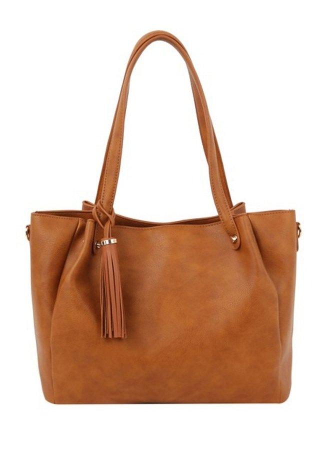 2 in 1 Fashion tote shoulder bag tangerine